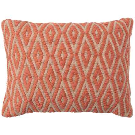 """Spencer Etch Rust Textured Throw Pillow - 14x20"""" in Orange - Closeouts"""