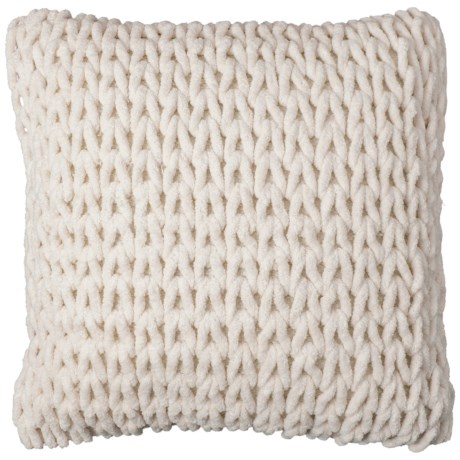 """Spencer Loris Woven Textured Throw Pillow - 18x18"""" in Ivory"""