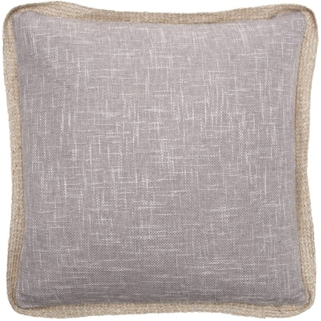 """Spencer Scarlet Parker Jute Trim Throw Pillow 40x40"""" Feathers Delectable Jute Pillow Cover With Braided Trim"""