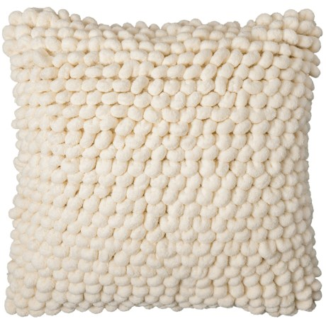"""Spencer Simran Textured Throw Pillow - 18x18"""" in Ivory"""