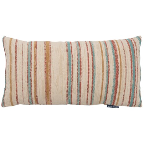 "Spencer Textured Stripe Throw Pillow - 14x27"", Feathers in Multi"