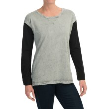 Spense Knits Crew Neck Shirt - Long Sleeve (For Women) in Feather Grey - Overstock