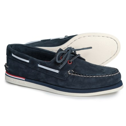 Sperry 2-Eye Nautical Boat Shoes (For Men) in Navy 2b11b4f4b