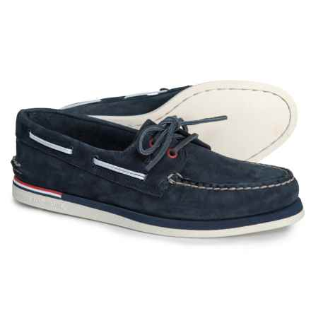 Sperry 2-Eye Nautical Boat Shoes (For Men) in Navy