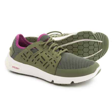 Sperry 7 Seas Sport Boat Shoes (For Women) in Olive/Pink - Closeouts