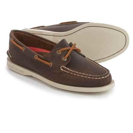 Sperry A/O Boat Shoes - Leather (For Women) in Brown - Closeouts