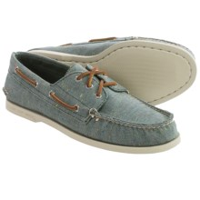 Sperry A/O Canvas Boat Shoes (For Men) in Fleck Green - Closeouts