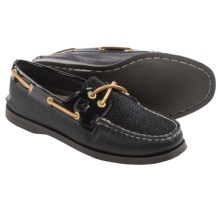 Sperry A/O Caviar Boat Shoes - Leather (For Women) in Black - Closeouts