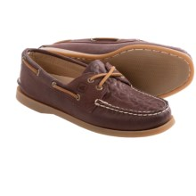 Sperry A/O Whale Tale Embossed 2-Eye Boat Shoes (For Women) in Burgundy - Closeouts