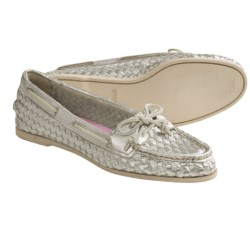 Sperry Audrey Woven Boat Shoes (For Women) in Hot Pink