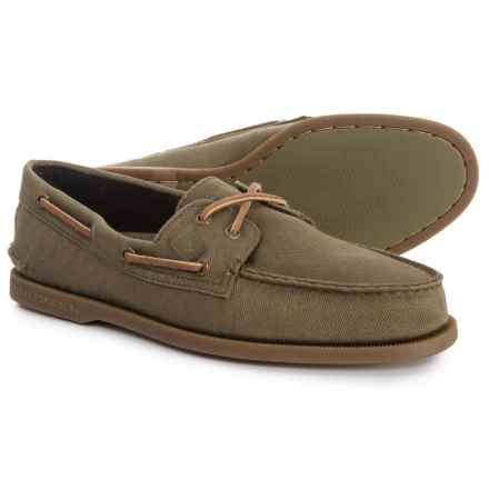 Sperry Authentic Original 2-Eye Surplus Boat Shoes (For Men) in Olive