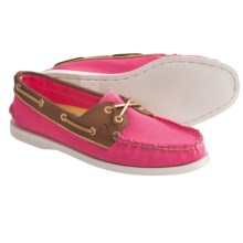 Sperry Authentic Original Boat Shoes (For Women) in Bright Pink Salt Washed - Closeouts