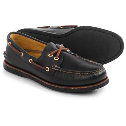 Sperry Authentic Original Boat Shoes - Nubuck (For Men) in Black - Closeouts