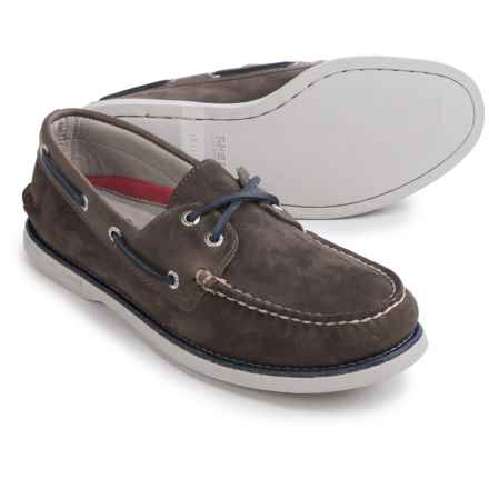 Sperry Authentic Original Boat Shoes - Nubuck (For Men) in Grey Nubuck - Closeouts