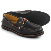 Sperry Authentic Original Lace-Up Boat Shoes - Nubuck (For Men) in Black - Closeouts