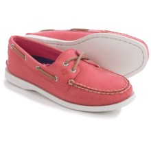Sperry Authentic Original Leather Boat Shoes - Moc Toe (For Women) in Pink Waxed Leather - Closeouts