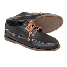 Sperry Authentic Original Tumbled Chukka Boots - Leather (For Men) in Black - Closeouts