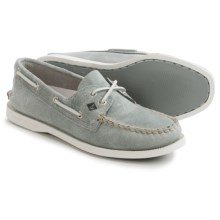 Sperry Authentic Original White Cap Boat Shoes - Leather (For Women) in Grey - Closeouts