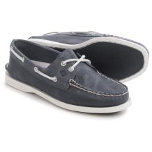 Sperry Authentic Original White Cap Boat Shoes - Leather (For Women) in Navy - Closeouts