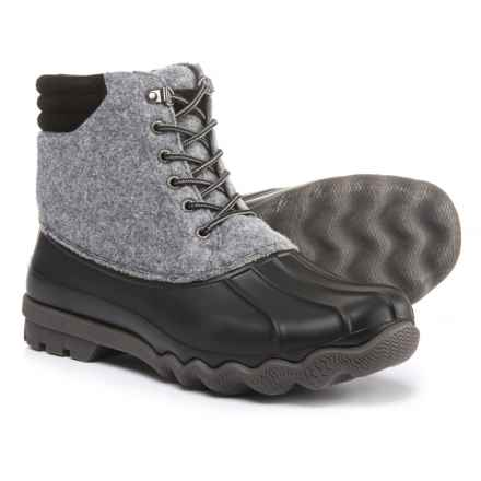 Sperry Avenue Wool Duck Boots - Waterproof, Insulated (For Men) in Grey - Closeouts