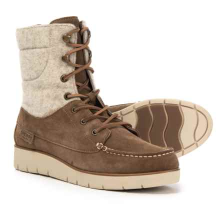 Sperry Azur Hatch Boots - Waterproof, Suede (For Women) in Taupe - Closeouts