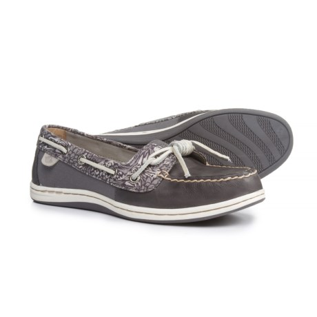 Sperry Barrelfish Boat Shoes - Leather (For Women) in Grey