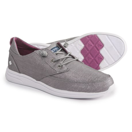 Sperry Baycoast Boat Shoes (For Girls) in Grey/Sparkle