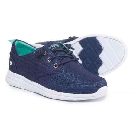Sperry Baycoast Boat Shoes (For Girls) in Navy/Sparkle - Closeouts