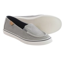 Sperry Biscayne Slip-On Shoes - Canvas (For Women) in Charcoal - Closeouts