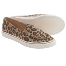 Sperry Biscayne Slip-On Shoes - Canvas (For Women) in Leopard - Closeouts