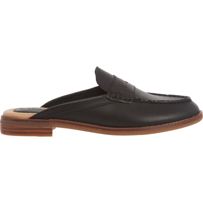 Sperry Black Seaport Fina Mule Shoes