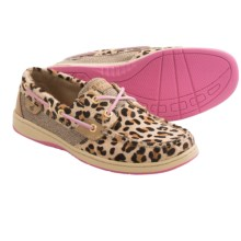 Sperry Bluefish Boat Shoes - Leopard Print (For Women) in Linen/Leopard/Pink - Closeouts