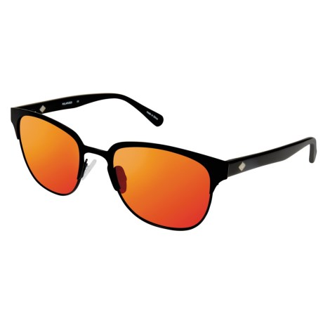 Sperry Bluff Point Sunglasses - Polarized (For Women) in Matte Black/Pink-Orange Mirror