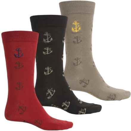 Sperry Boxed Gift Set Socks - 3-Pack, Crew (For Men) in Bdsfa Brindle Sunflower Multi - Closeouts