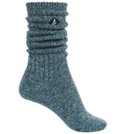 Sperry Boyfriend Socks - Crew (For Women) in True Blue - Closeouts