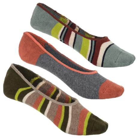 Sperry Canoe Liner Socks - 3-Pack, Below the Ankle (For Women) in Abyss Asst