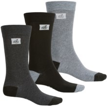 Sperry Casual Crew Socks - 3-Pack (For Men) in Black Heather - Closeouts