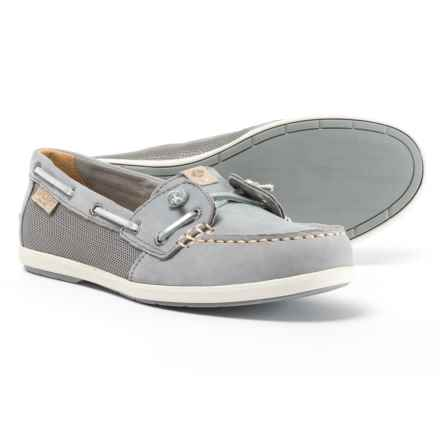 Sperry Coil Ivy Boat Shoes - Leather (For Women) in Metallic Grey - Closeouts