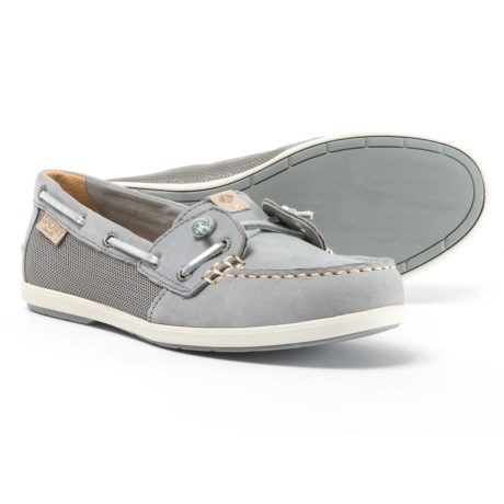 Sperry Coil Ivy Boat Shoes - Leather (For Women) in Metallic Grey