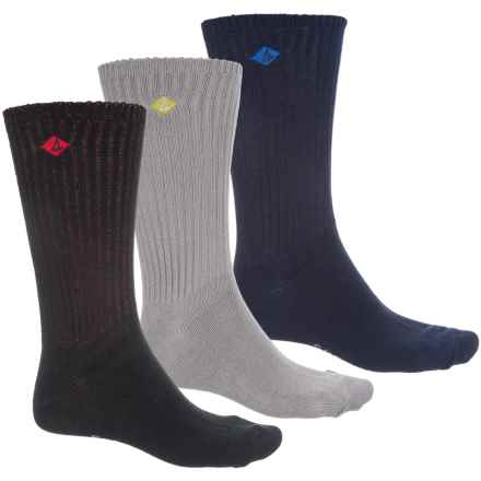 Sperry Cotton-Blend Socks - 3-Pack, Crew (For Men) in Navy - Closeouts