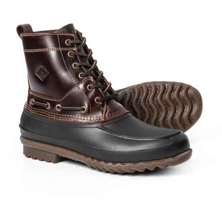 Sperry Decoy Duck Boots (For Men) in Amaretto/Black - Closeouts