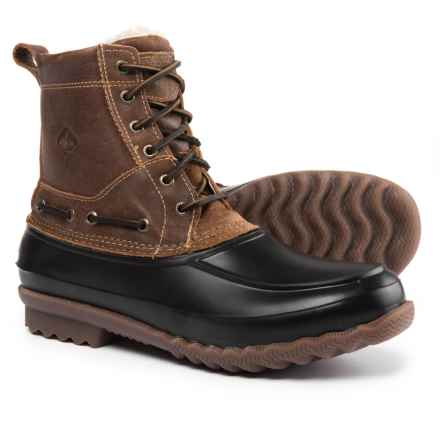 Sperry Decoy Shearling Duck Boots - Waterproof, Leather (For Men) in Brown - Closeouts