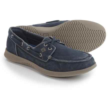 Sperry Defender 2-Eye Boat Shoes (For Men) in Navy - Closeouts