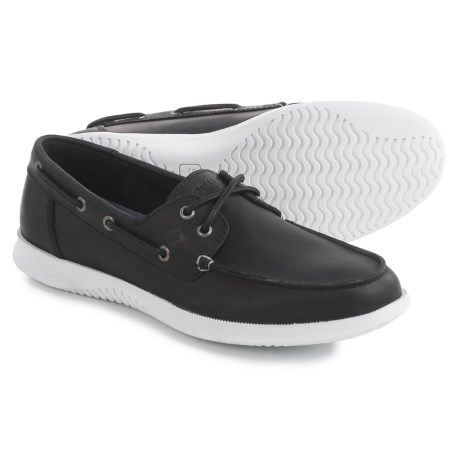 Mens Sperry TopSider Defender Boat Shoe Black