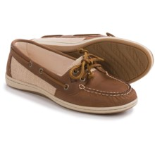 Sperry Firefish Moc-Toe Boat Shoes - Leather and Canvas (For Women) in Tan - Closeouts