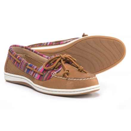 Sperry Firefish Stripe Boat Shoes - Leather (For Women) in Multi Tan - Closeouts