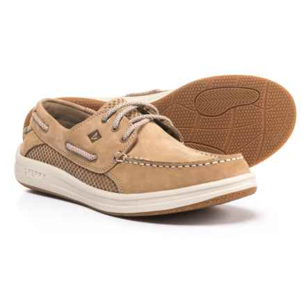 Sperry Gamefish 3-Eye Boat Shoes - Nubuck (For Men) in Linen - Closeouts