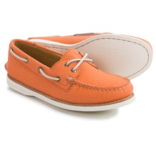 Sperry Gold Cup A/O Honeycomb Boat Shoes - Leather (For Women) in Coral - Closeouts