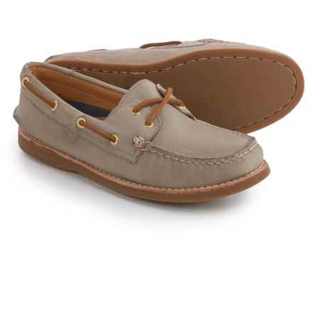 Sperry Gold Cup A/O Honeycomb Boat Shoes - Leather (For Women) in Grey - Closeouts