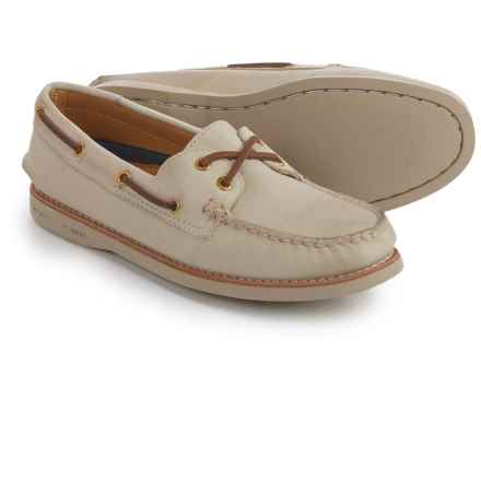 Sperry Gold Cup A/O Honeycomb Boat Shoes - Leather (For Women) in Ivory - Closeouts